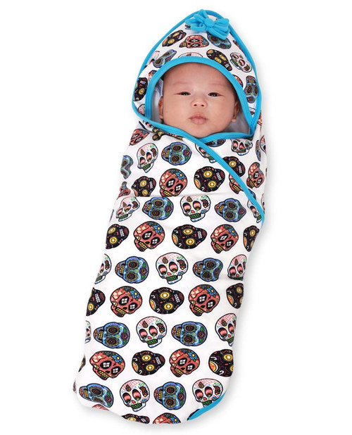 Six Bunnies Sugar Skulls II Baby Wrap Blanket