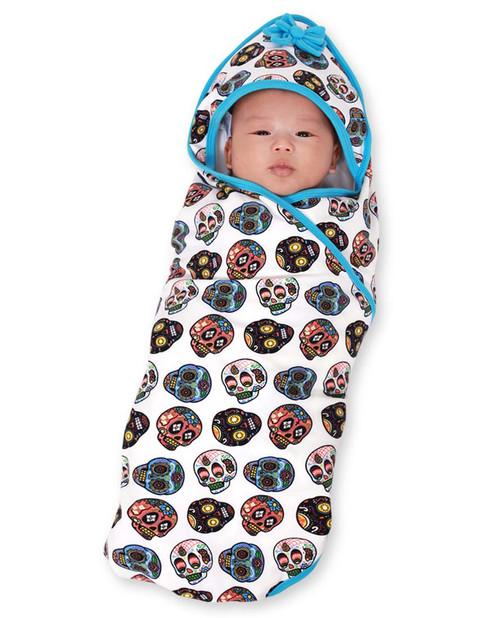 Six Bunnies Sugar Skulls II Baby Wrap Blanket