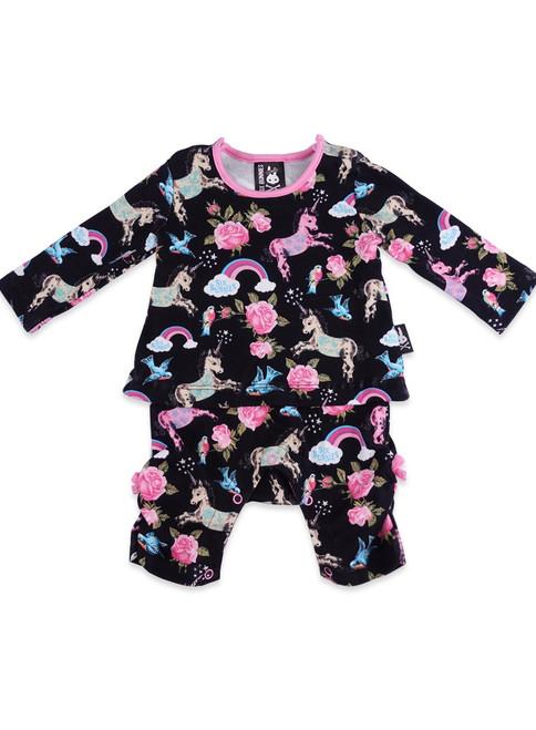 Six Bunnies Unicorn Wonderland Playsuit Top Pants Set