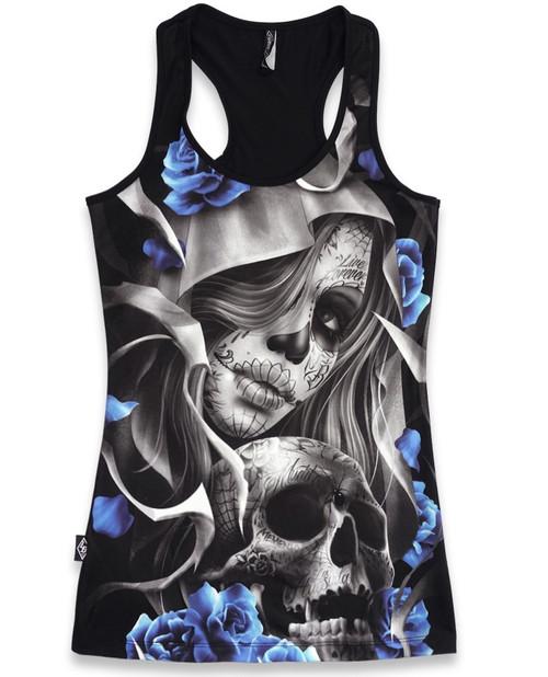 Liquorbrand los muertos skull singlet tank top