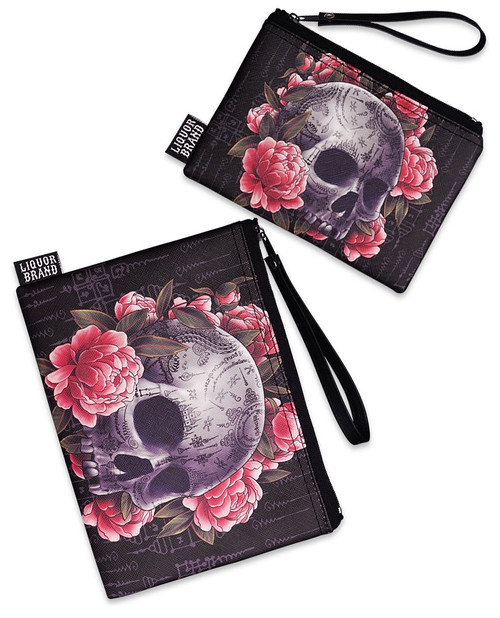 Liquorbrand Sak Yant Skull 2 Piece Wallet and Coin Pouches