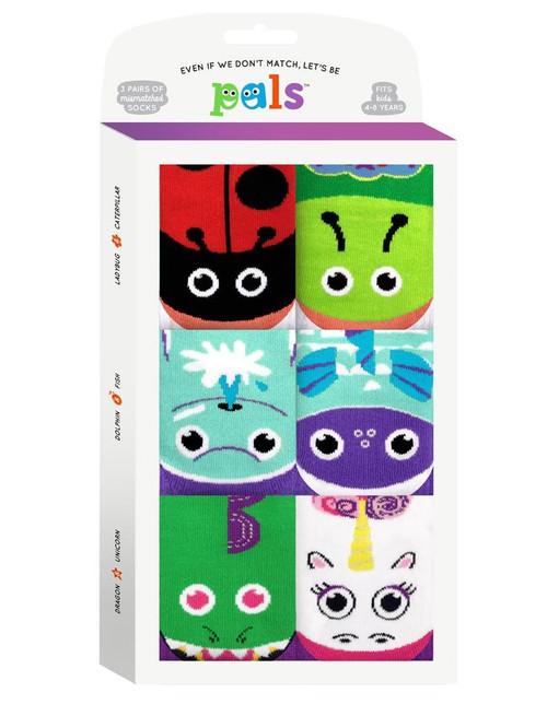 Pals Socks Funky Friends Kids Sock Gift Pack