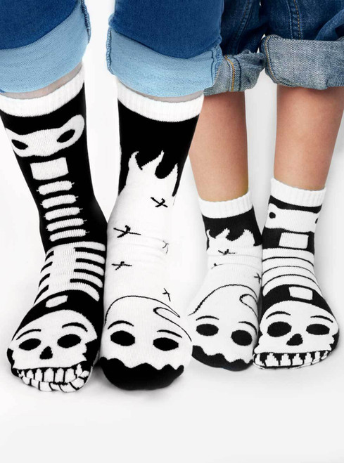 Pals Socks Ghost and Skeleton Socks for Kids and Adults