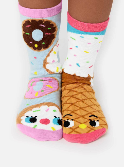 Pals Socks - Donut and Ice Cream Mismatched Socks   Toddler - 8 Yr