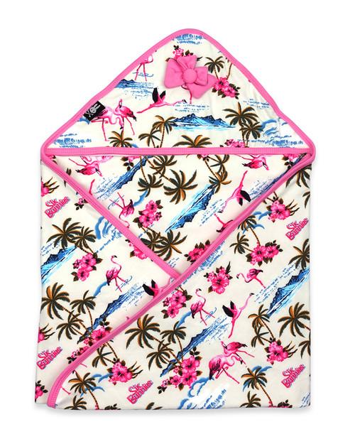Six Bunnies Flamingoes Baby Wrap Blanket