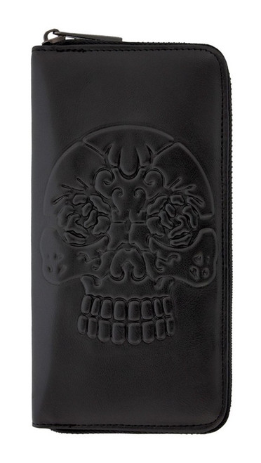 Banned Apparel Embossed Skull Wallet