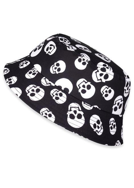 Six Bunnies Polka Skulls Kids Bucket Hat