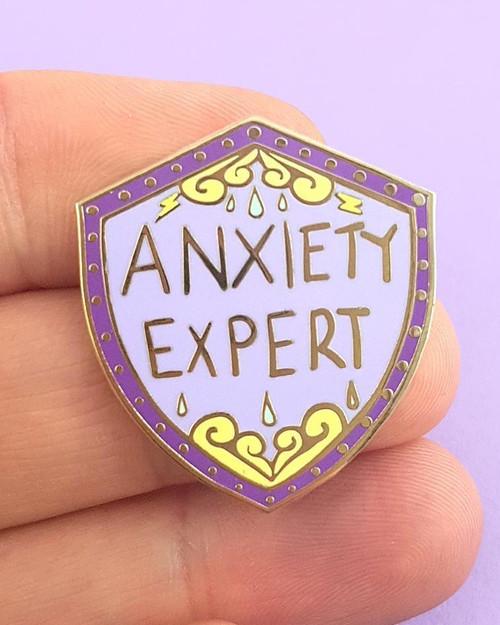 Jubly Umph Anxiety Expert Enamel Pin