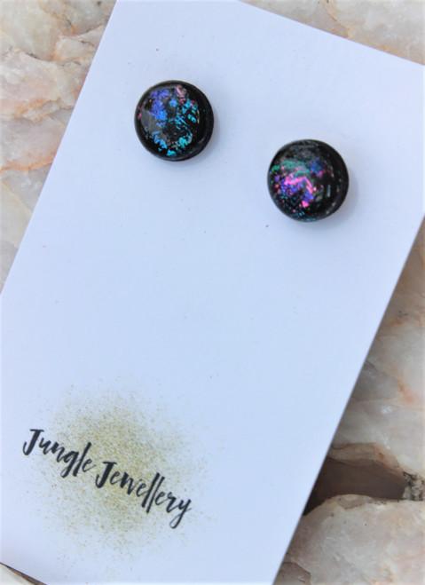Unicorn Eclipse Resin Glitter Earrings