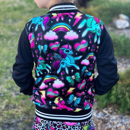 Six Bunnies Black Unicorn Jacket  | Size 1 & 2 Left