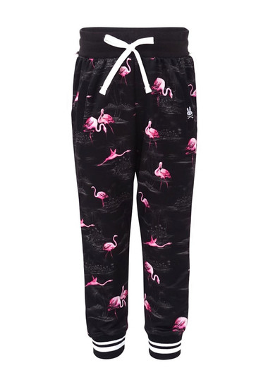 NEW Baby girls gothic  Black Pink grey White Leopard Anchor Leggings Trousers