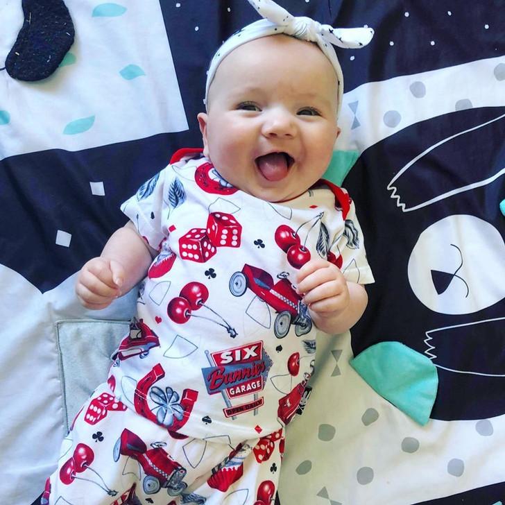 Six Bunnies Hotrod Cherry Pyjama Set