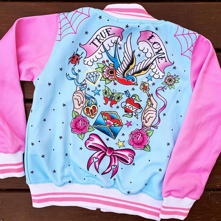 Six Bunnies True Love Girls Tattoo Rockabilly Jacket