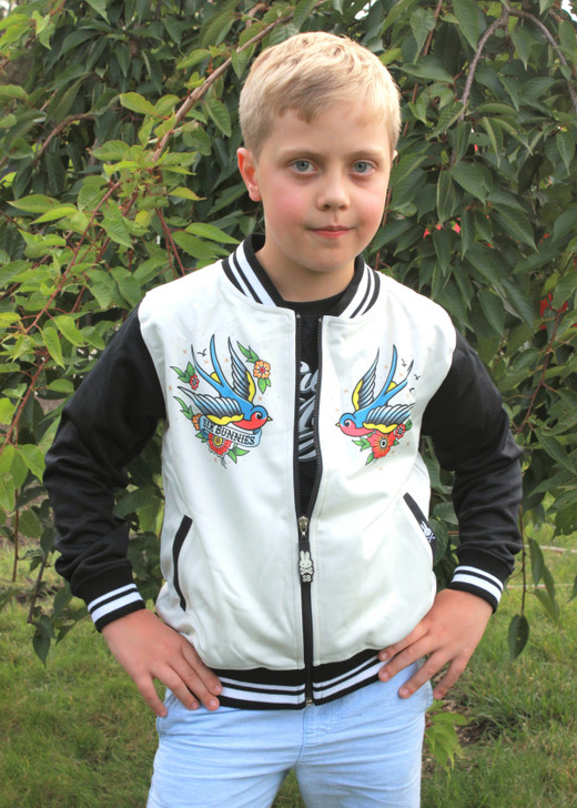 Six Bunnies Old School Tattoo Rockabilly Jacket - boy model