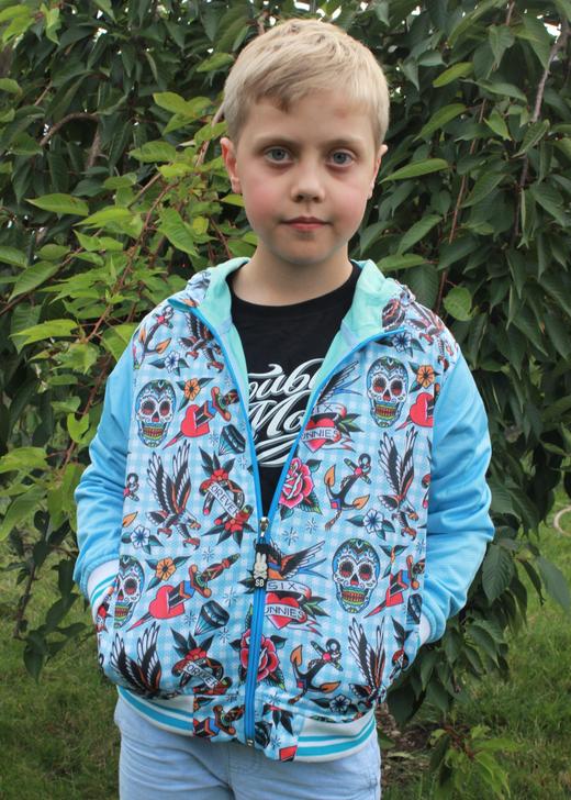 Six Bunnies Tattoo Shoppe Blue Jacker - Boy Model