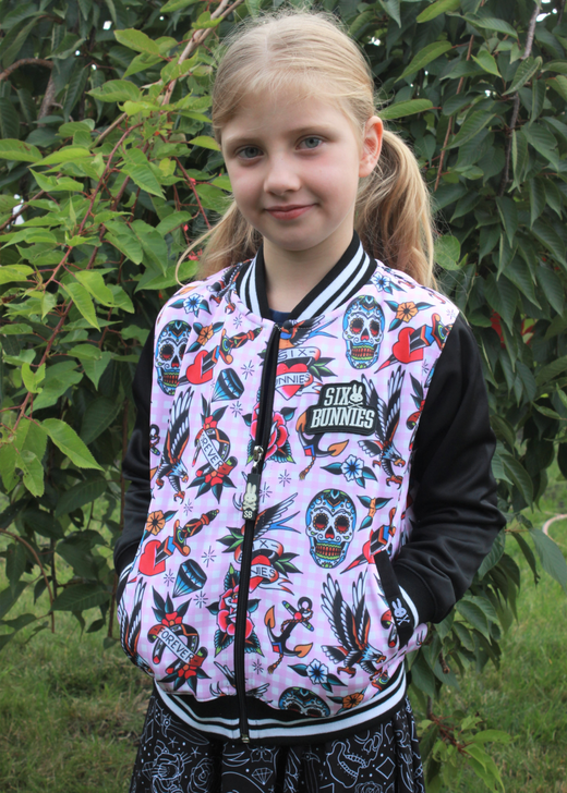 Six Bunnies Tattoo Shoppe Rockabilly Jacket - girl model 2