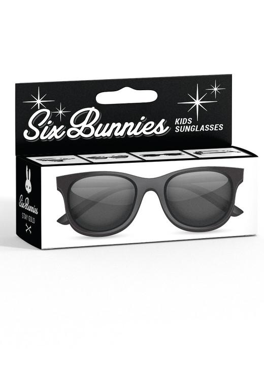 Six Bunnies Unisex Kids Wayfarer Black Sunglasses