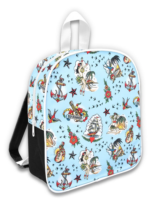 Six Bunnies Leo Cherries Kids Backpack Rockabilly Leopard Print Cool Toddler Bag