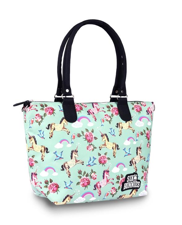 Six Bunnies Unicorn Wonderland Nappy Bag or Tote Handbag