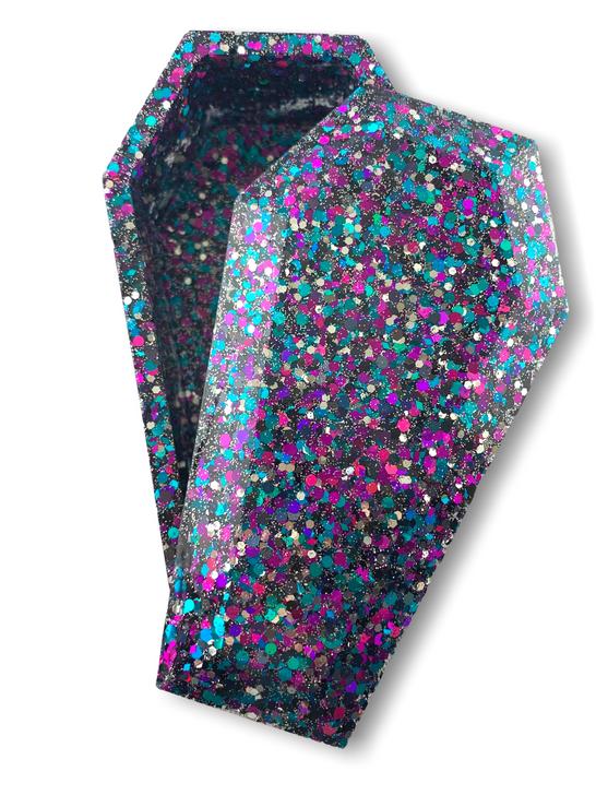 Australian made confetti resin coffin shape trinket box
