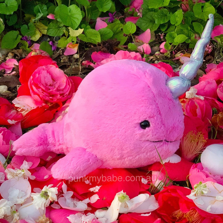 Jellycat Sea Sorbet Narwhal Fuchsia
