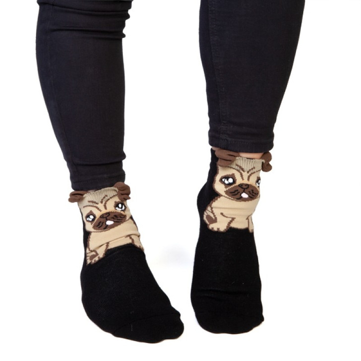 Pug Kids and Adult Socks by Feet Speak