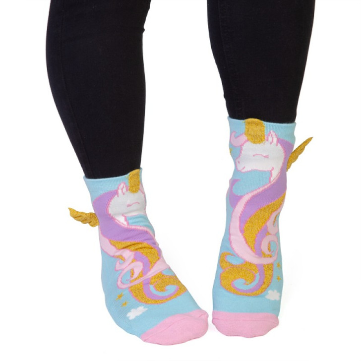 Unicorn Socks with Wings for Kids and Adults by Feet Speaks