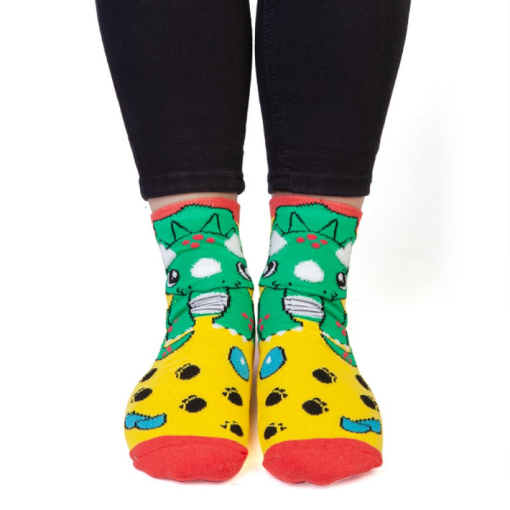 Triceratops Socks with Wings for Kids and Adults by Feet Speaks