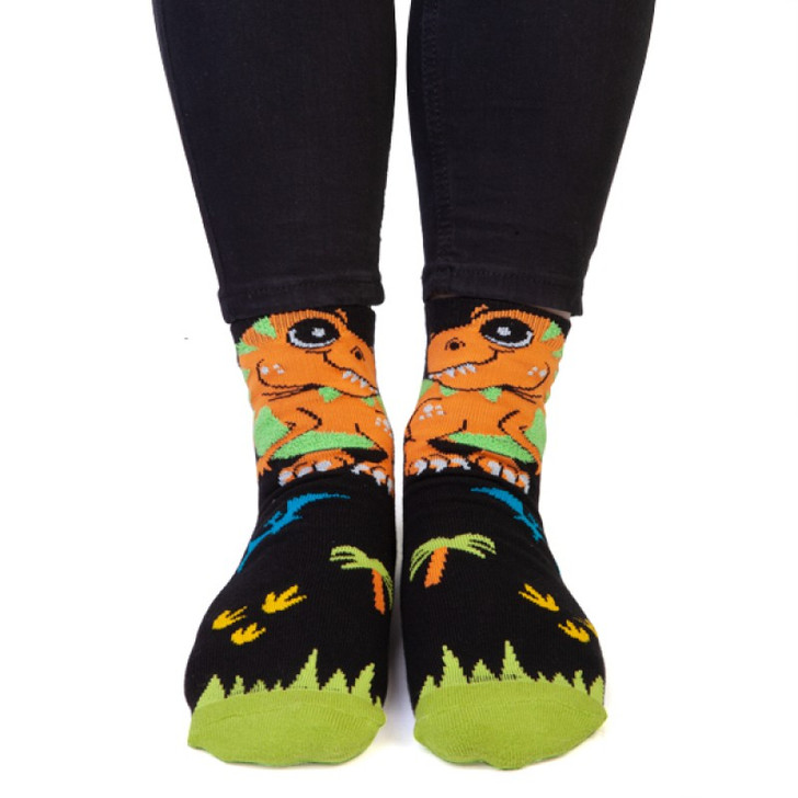 R-Rex Socks with Wings for Kids and Adults by Feet Speaks