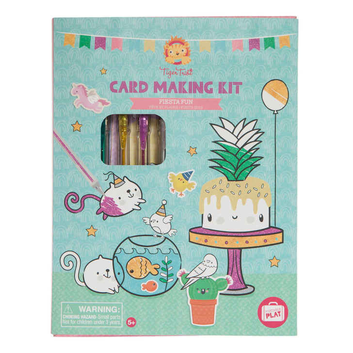 Tiger Tribe Kids Kawaii Card Making Kit