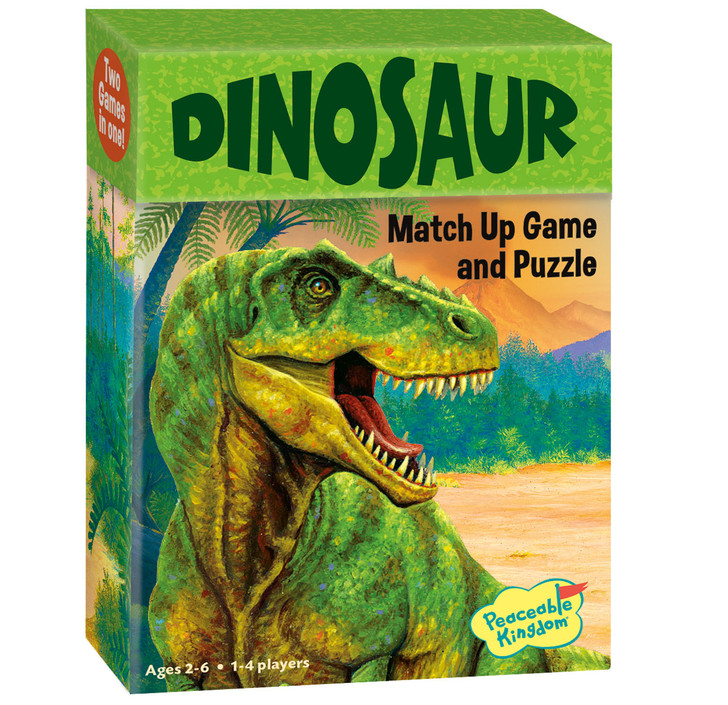 Peaceable Kingdom Dinosaur Memory Game and Puzzle