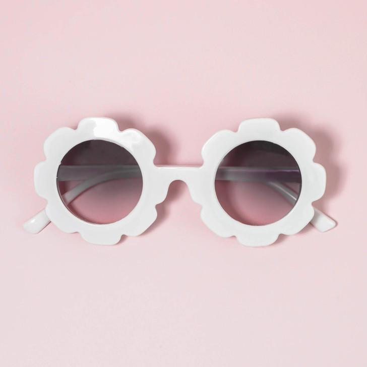 Flower Fun UV400 Sunglasses - White
