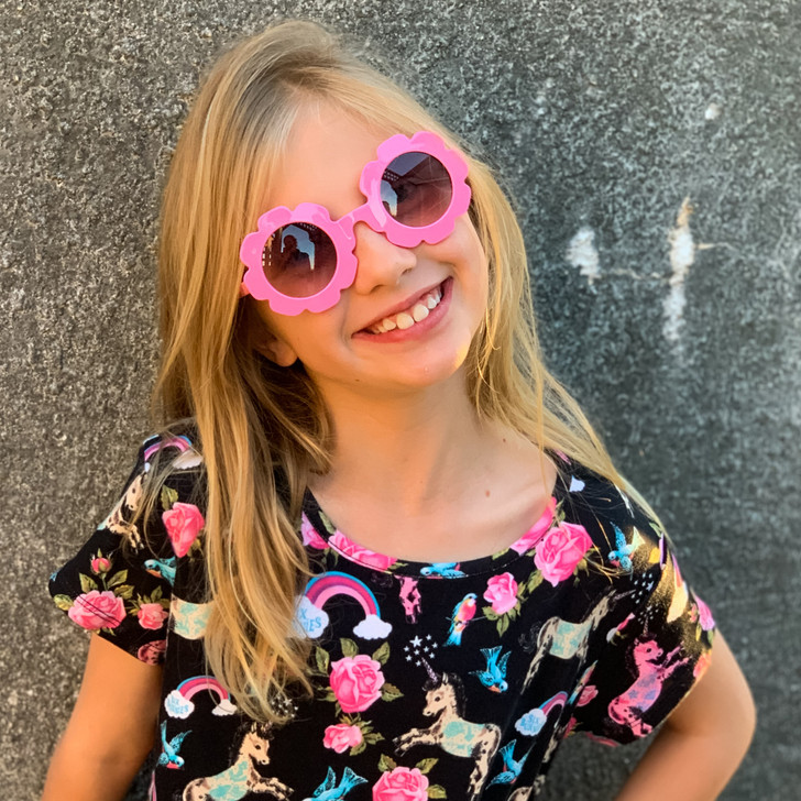 Flower Fun UV400 Sunglasses - Pink