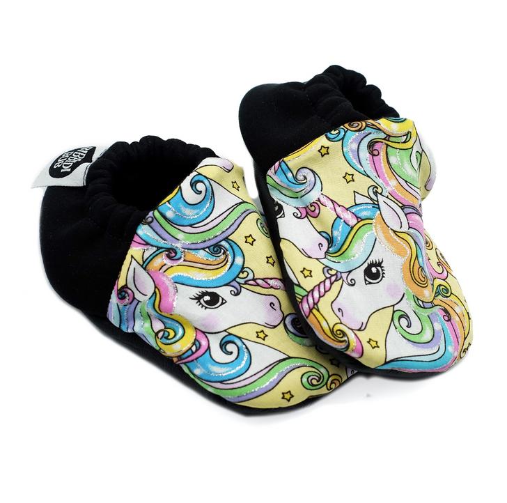 Soft Sole Baby Shoes - Unicorns