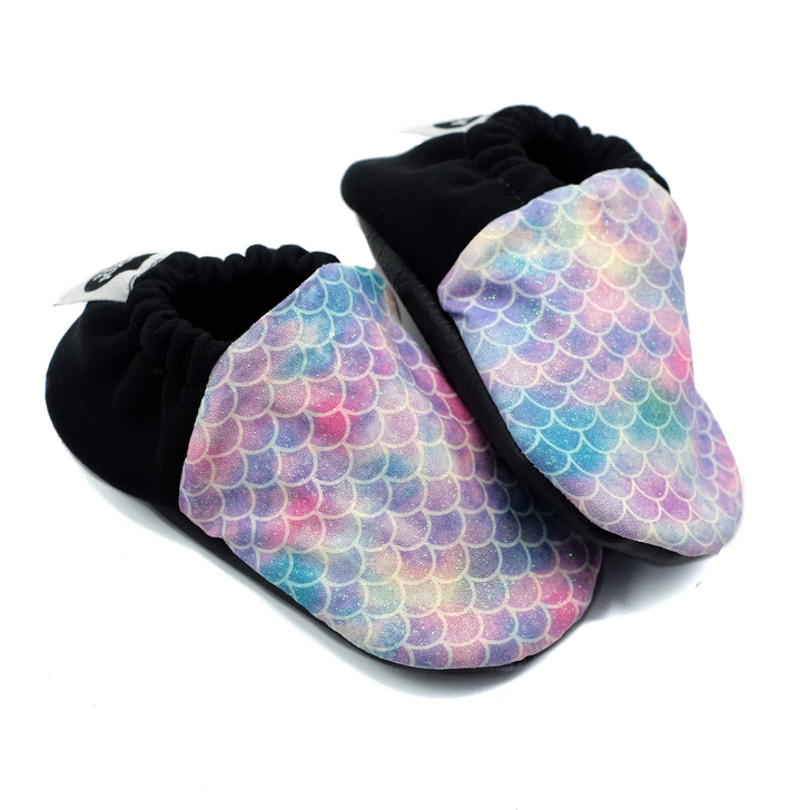 Soft Sole Baby Shoes - Mermaid