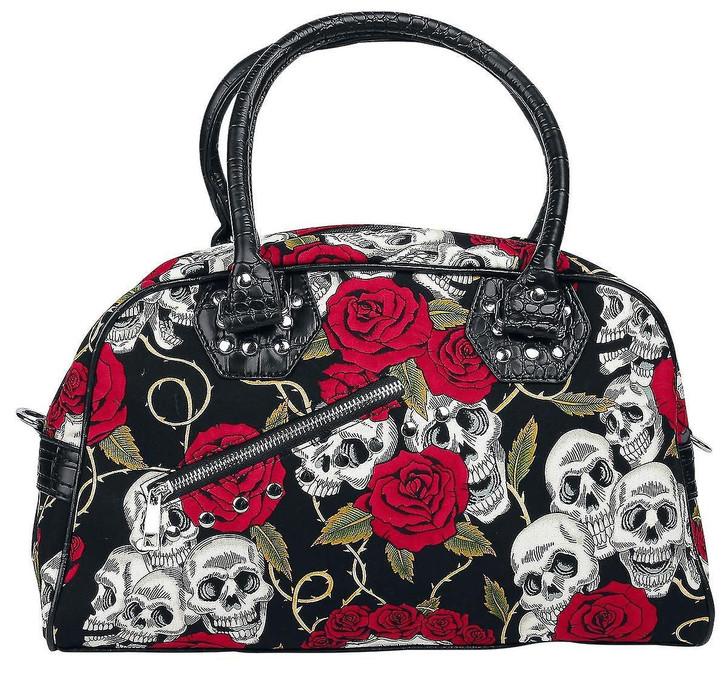 Banned Apparel Skull Roses Handbag