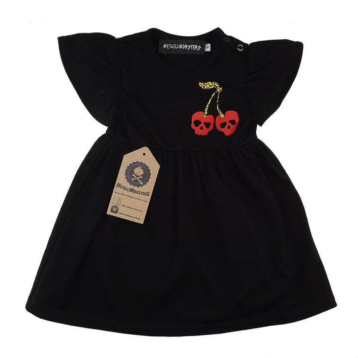 Metallimonsters Cherry Skulls Baby Dress