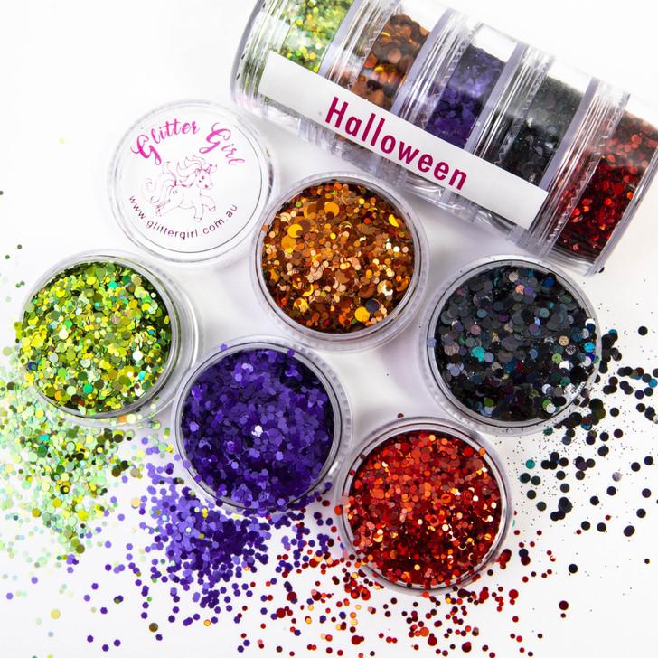 Halloween Eco Glitter   5 Pack