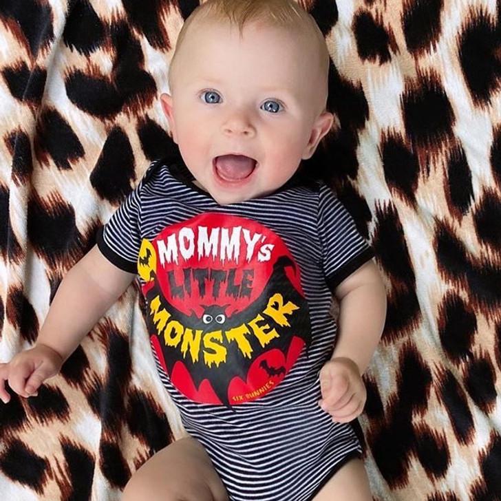 Six Bunnies Mummy's Little Monster Baby Onesie