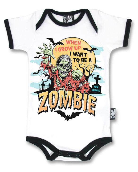 Six Bunnies Baby Zombie Romper
