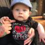 Six Bunnies I Love My Dad Tattoos Baby Onesie Bodysuit - flat la 2