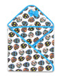 Six Bunnies Aloha Mexican Sugar Skulls Baby Wrap Blanket - Open