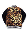 Six Bunnies Leopard Bomber Varsity Jacket - back