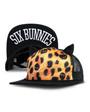 Six Bunnies Leopard Print and Skulls Kids Cap