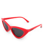 Six Bunnies Girls Red Cat Eye Sunglasses - side