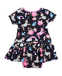 Six Bunnies Unicorn Dress Onesie with Headband Set - back