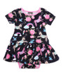 Six Bunnies Unicorn Dress Onesie with Headband Set - front