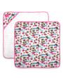 Six Bunnies Flamingos Baby Wrap Blanket - Cream