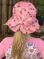 Six Bunnies Daisy Cherry Bucket Hat with Bow