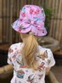 Six Bunnies Flamingos Bucket Hat